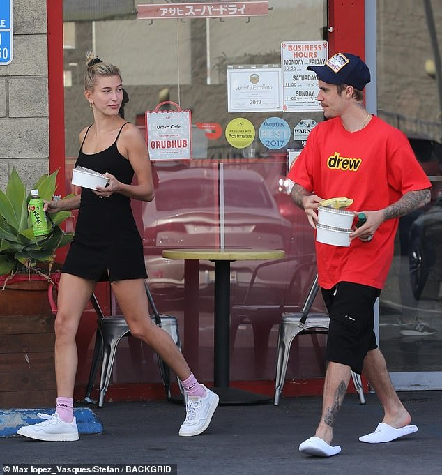 Focus: The two were spotted together in Costa Mesa, California on Saturday