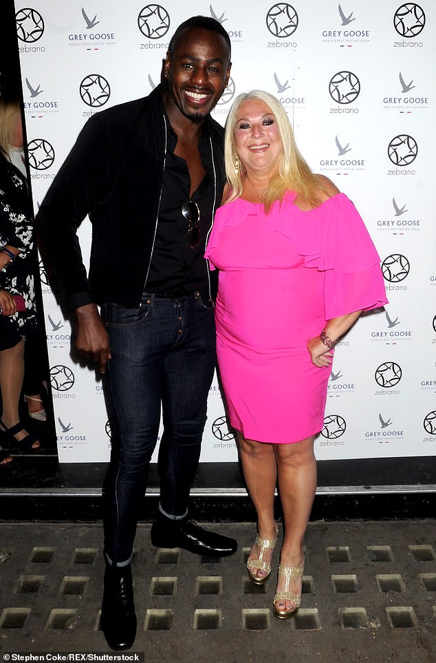 Loved-up: The This Morning favourite has since found love with singer Ben Ofoedu, and the pair have been engaged since 2006
