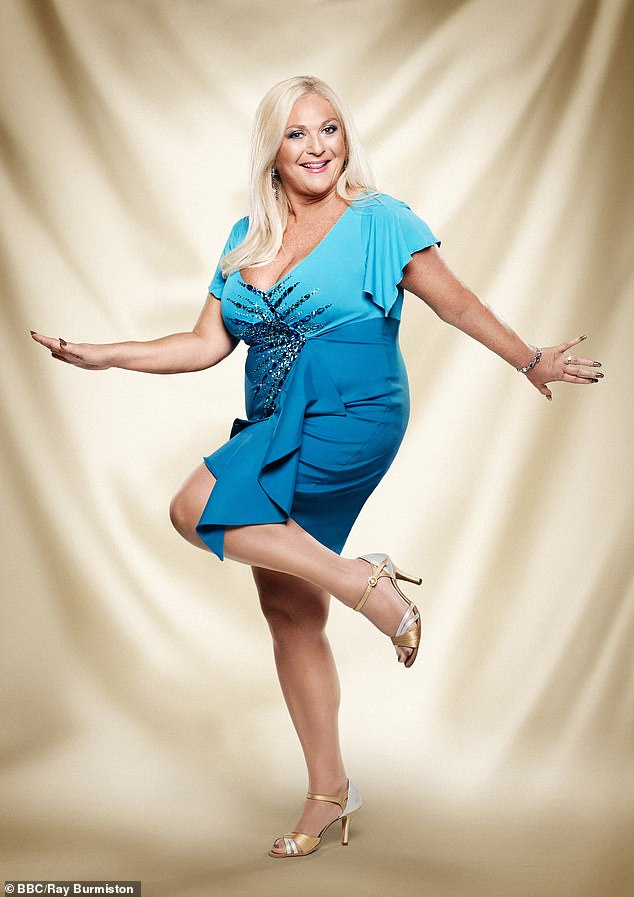 Tightened up: After jetting to Belgium for the gastric band in 2010, she had it tightened ahead of her appearance on Strictly Come Dancing (above)