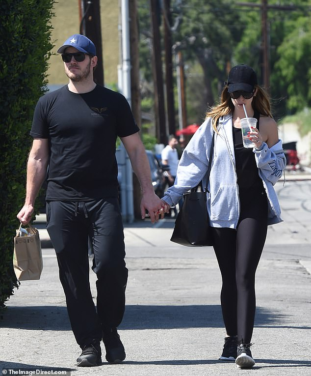 Chris Pratt was spotted out and about Los Angeles holding hands with his fiancée Katherine Schwarzenegger during an errands run to the juice shop