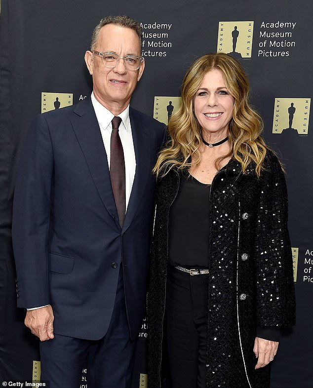 Her longtime mate: She was last seen with Hanks, whom she wed in 1988, in December