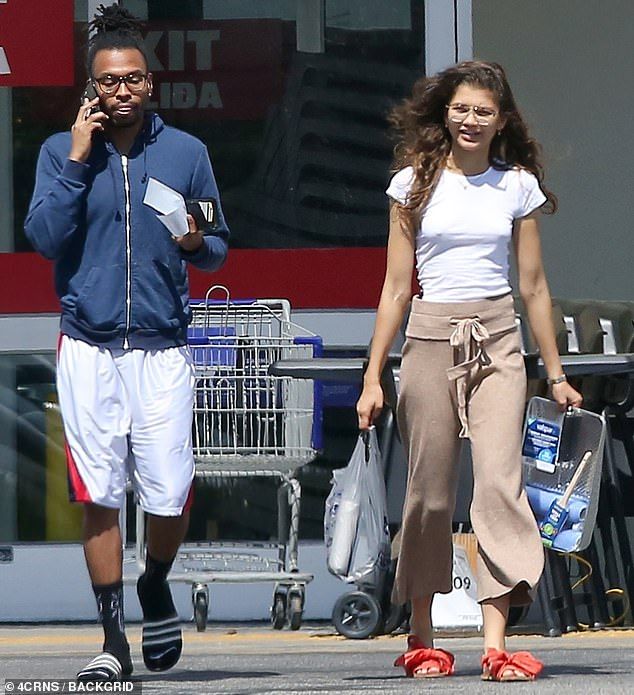 Zendaya was able to find some time to run errands on Monday as she was spotted shopping in Los Angeles