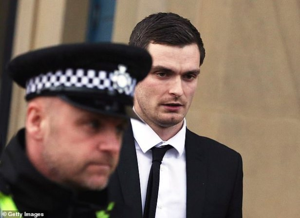 Johnson (pictured while on trial in 2016), remains on licence and, as part of his release conditions, is not permitted to be alone with his daughter