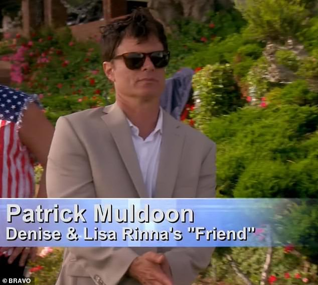 Hollywood star: Patrick Muldoon was described by Bravo as a 'Friend' of Denise and Rinna