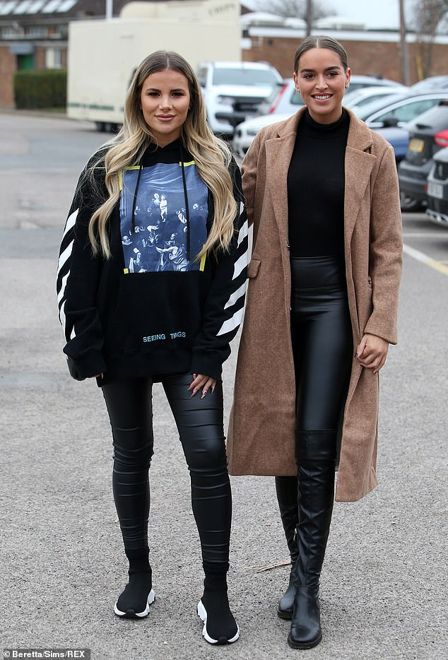 Friends: Georgia was also seen chatting to friend Chloe Ross, who joined the TOWIE cast at the start of this series