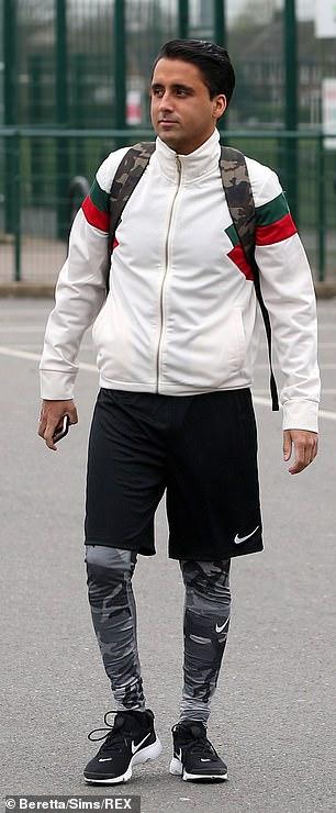Football Fan: Liam Gatsby was also seen making his way inside