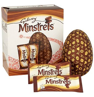 Galaxy Minstrels is among the least calorific egg with132kcals per serving and1,383kcals overall