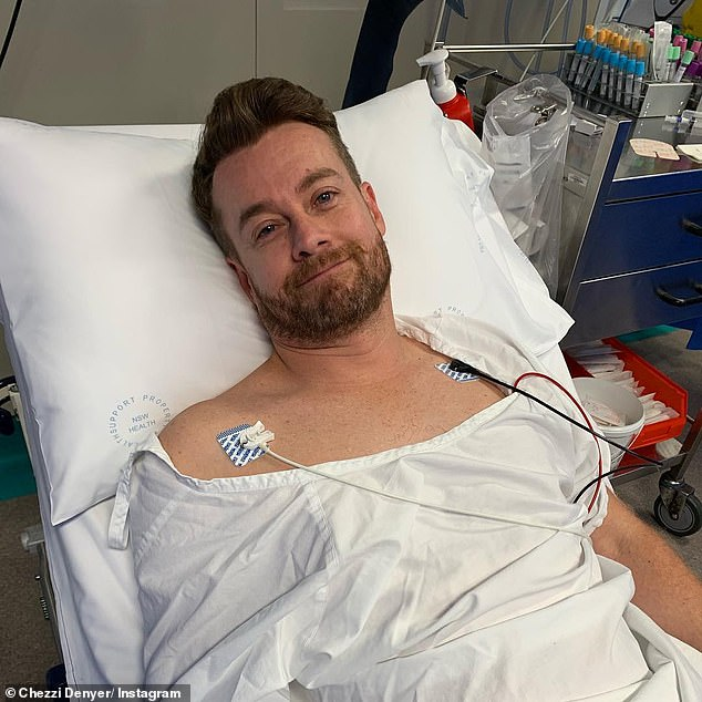Bed ridden! Aside from being in intense physical pain and needing injections for relief, Grant (pictured) said it was very difficult watching DWTS and hearing his radio show without him on them