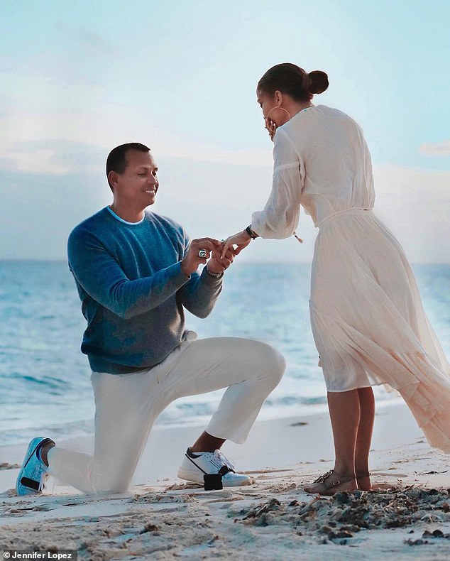She said yes: She'll likely bring her new fiance along for the ride after he dropped down to one knee and proposed with a massive $4.5million engagement ring during a tropical vacation earlier this month