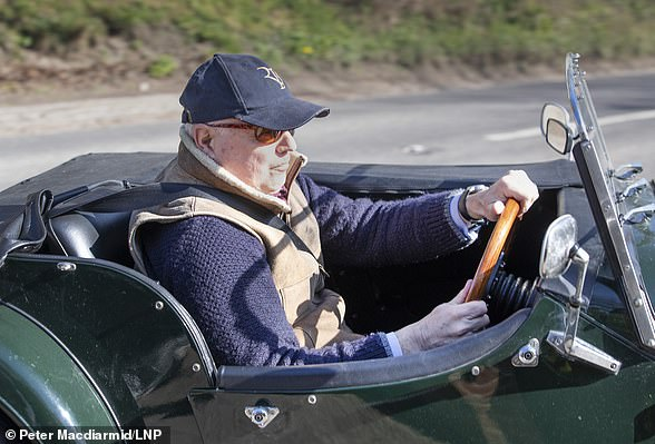 Brave:IDS arrives at Chequers last week in a Morgan sports car – and his dad's old jacket