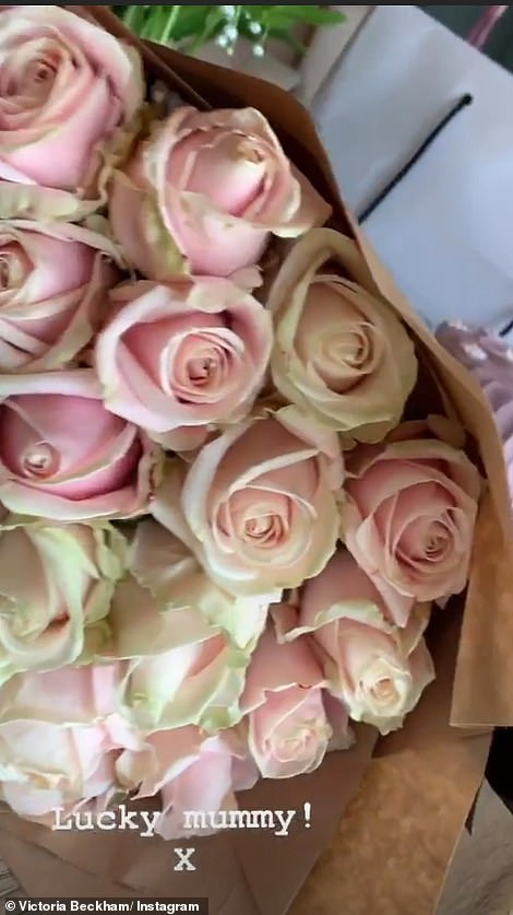 Floral: David spoiled Victoria with three bouquets of pink peonies and a huge bouquet of pink stem roses