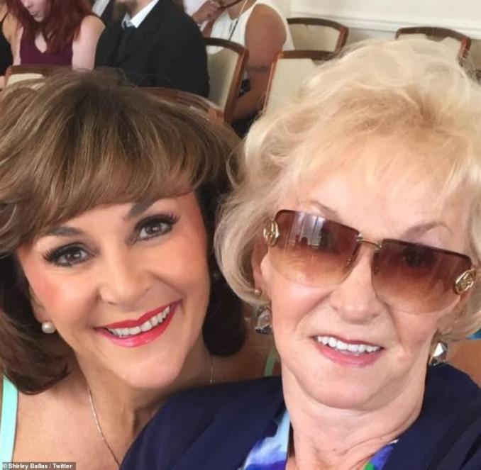 Feeling blessed: Strictly's Shirley wrote: 'I get to spend this beautiful Mothers Day Sunday with my Mother. There will be many people out there that will not be able too for many reasons. I send an extra hug to you. Feeling Blessed. X'