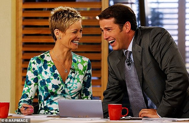 Past: Speaking to Stellar Magazine, the author, 51, recalled the awkwardness of seeing her former co-star Karl Stefanovic, 47, for the first time, one year after her departure. Pictured together on the Today show in 2006
