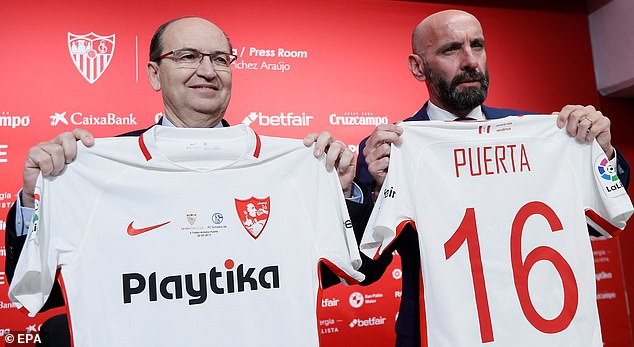 Arsenal missed out on former Roma chief Monchi (right), who opted for a return to Sevilla