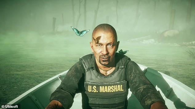 Still working: Meanwhile, Hutchison's most recent acting gig was voicing Federal Marshal Cameron Burke in the Ubisoft video game Far Cry 5 last August