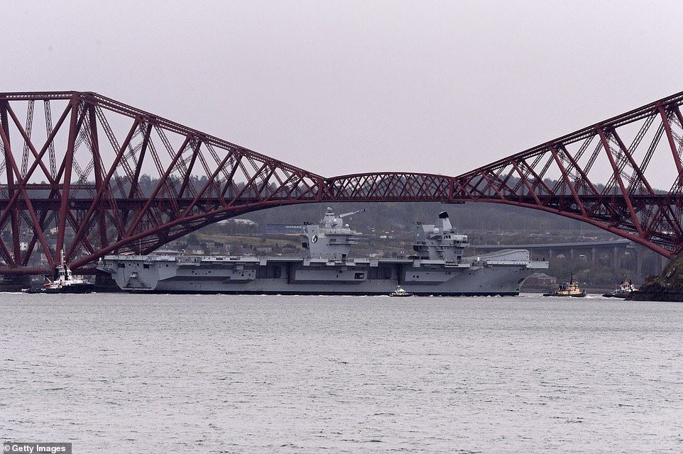 The HMS Queen Elizabeth was built at the Rosyth Dockyard in Fife and will now return in preparation for official service