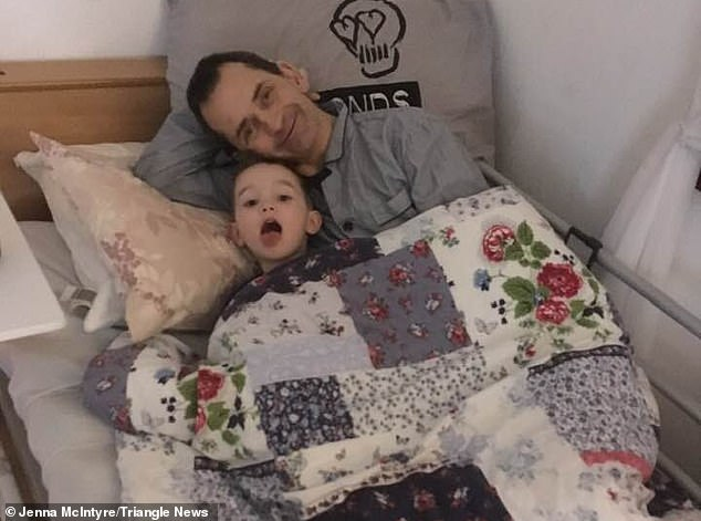 Mr Brolly - a former bouncer - is pictured with his three-year-old grandson Alfie