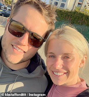 Kelly Stafford, 29, the wife of Detroit Lions quarterback Matthew Stafford, said she had been feeling dizzy and off-balance for the last year. Pictured: Matthew and Kelly
