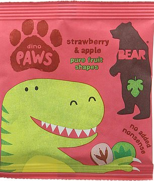 Strawberry and apple dino paws have 1.48 teaspoons of sugar