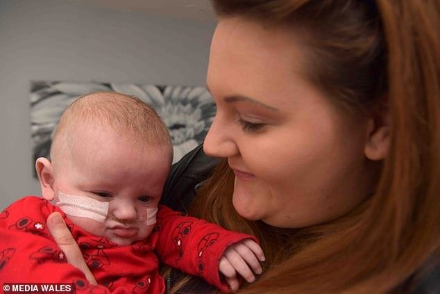 Mrs Willis is thrilled to have River home but describes the ordeal as the toughest time she has ever faced. Doctors were forced to carry out an emergency C-section when her placenta separated from the wall of her womb, putting both herself and her baby at risk of death