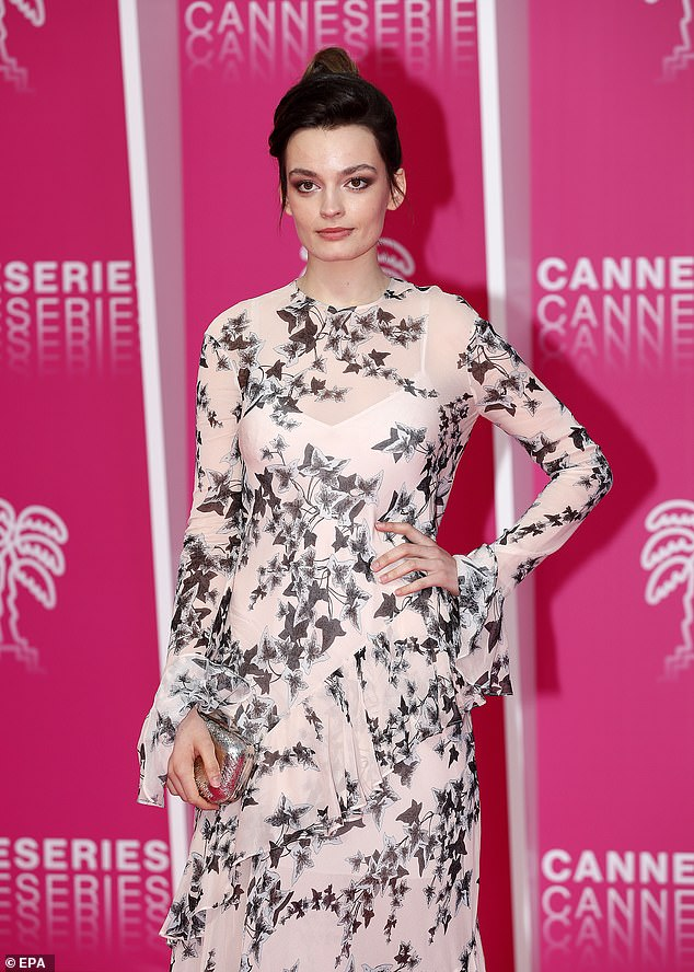 All eyes on her!The 23-year-old dressed for the event in a long pale pink, sheer frock that hinted at her white slip dress underneath