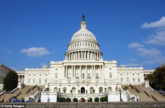 Carlineo is accused of placing a threatening call to Omar's office in Washington D.C. last month. The US Capitol building is shown in a file photo from June 5, 2003