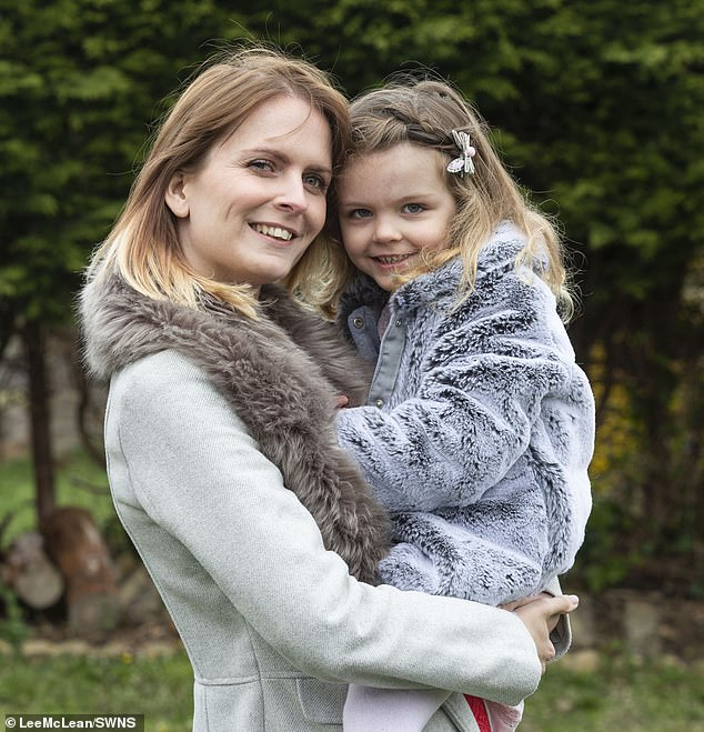Emma had been told many times by doctors that she may never have children – because she suffers from the debilitating and painful condition.But on Valentine's Day in 2014, months after their wedding, the couple found out to their joy – and astonishment – that Emma was pregnant (pictured with her daughter)