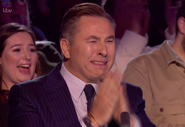 Judge David Walliams hit the golden buzzer, sending the choir through to the semi-finals