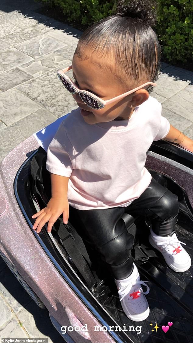 Angel: The couple are parents to one-year-old daughter Stormi Webster