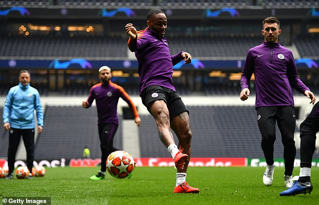 In-form Raheem Sterling fails to get the ball of his team-mates during a possession-based drill