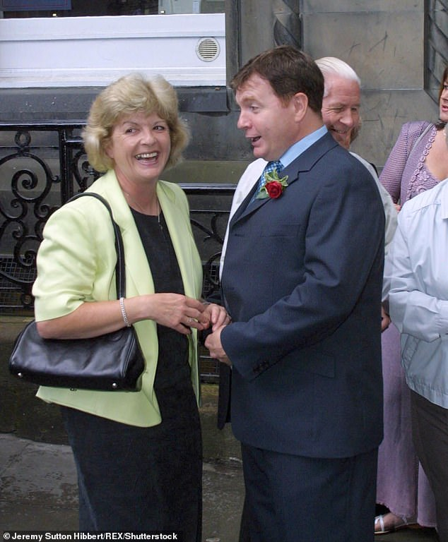 Gail lost her mother Sandra (left) to cancer back in 2009. Pictured is her mother at Gail's 2001 wedding