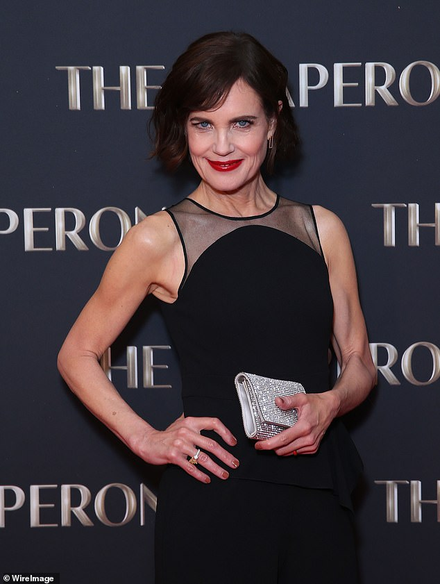 Elizabeth McGovern showed off her toned forearms on the red carpet recently (pictured at The Chaperone Australian premiere in Sydney yesterday)