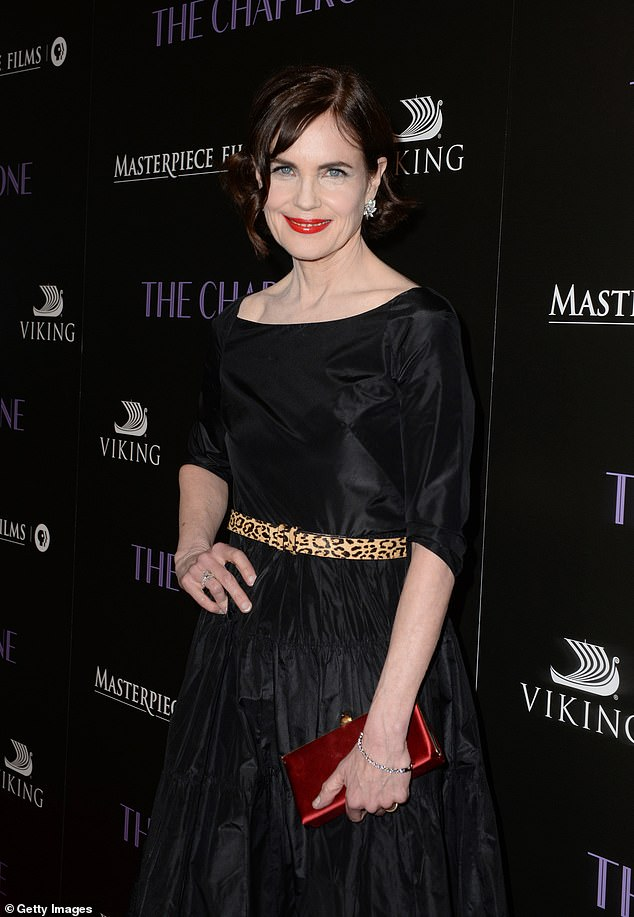 McGovern is pictured attending the premiere of The Chaperone at the Linwood Dunn Theater in Los Angeles last week