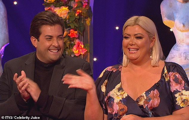 Back on track: Gemma and Arg proved they were back on track when they made an appearance on Celebrity Juice, set to air this Thursday evening - even if their sex life is not