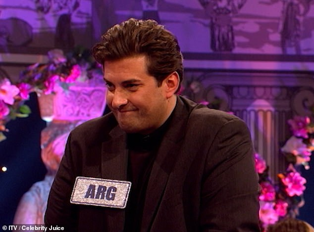 Embarrassed: Arg guffawed as his toilet habits were discussed in detail
