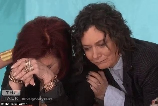 Shocking news: Sara Gilbert leaves The Talk. The actress made the announcement on Tuesday's show and was seen to comfort a tear Sharon Osbourne