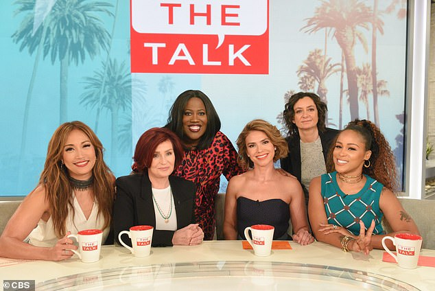 Gilbert was seen with his co-presenters Carrie Ann Inaba, Sharon Osbourne, Sheryl Underwood and Eve, along with hostess Kristine Johnson, in the official Tuesday episode shots