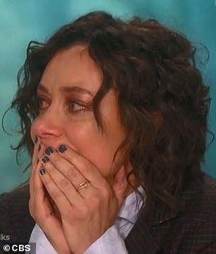 Emotional: the sad news had everyone in tears