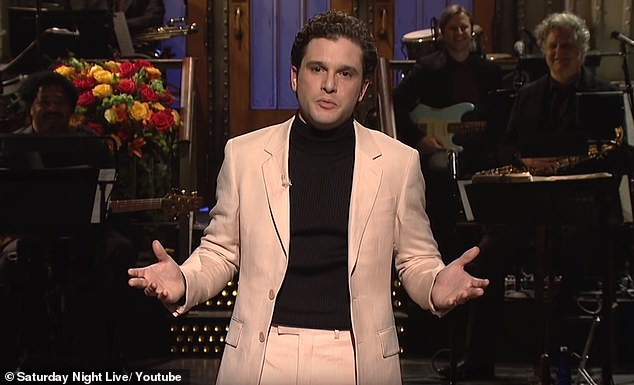 Shock: Kit Harington shocked viewers on Saturday Night Live when he appeared for the first time in years without his sturdy beard