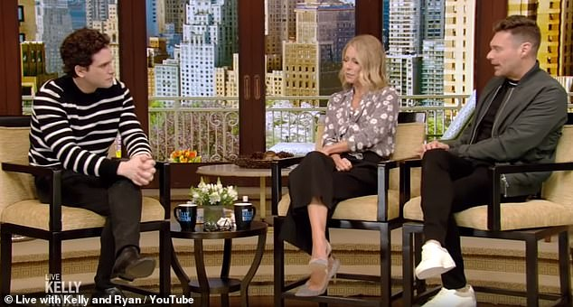"""Emotional: the actor then spoke of the """"emotional roller coaster"""" to host the American sketch sketch on Live With Kelly & Ryan on Tuesday morning"""