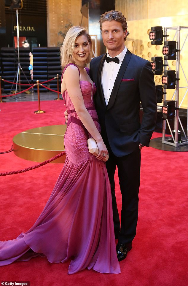 Last public appearance: Alex and Richie dated for several months after meeting on The Bachelor in 2016. They are pictured at the Logieson April 23, 2017 in Melbourne