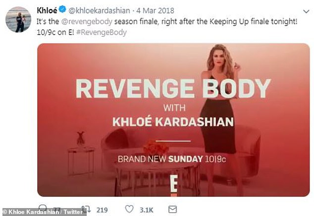 Body of work: Khloe was playing with the E! makeover show, Body Revenge