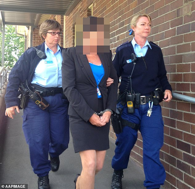 The Colt family's 51-year-old matriarch - who's been given the pseudonym Betty Colt (pictured being led out of court in 2014) is one of eight facing charges