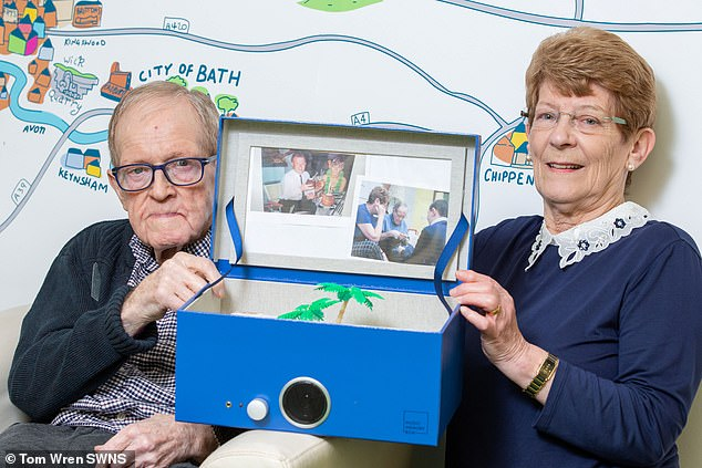 Steve Garrity, 82, and his wife Monica, 74, have been able to reconnect with the use of the 'Music Memory Box' after he lost the ability to communicate due to dementia and Parkinson's