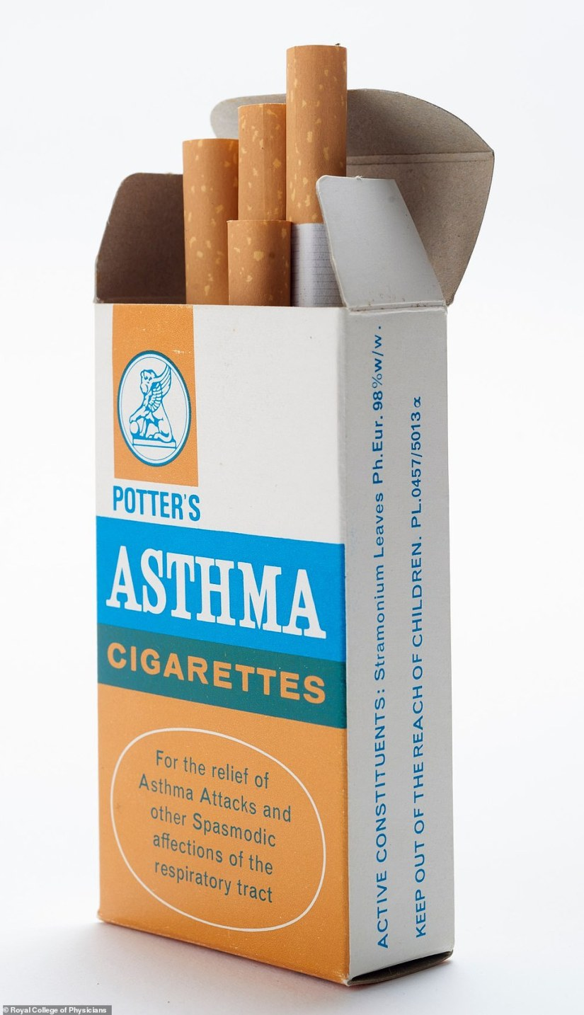 Incredibly, smoking was once used as a way to prevent asthma attacks as doctors continued to use tobacco to treat illness. It was viewed that inhaling smoke was an effective method of delivering medicine to the lungs. Brands like Potter's asthma cigarettes used the plant stramonium rather than tobacco which can help to relieve the symptoms of asthma, but the benefits would have been offset by the irritation of the smoke on the patient's airwaves
