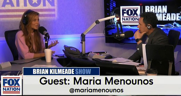 Maria Menounos, 40,opened up about learning she had a brain tumor while her mother was battling stage four brain cancer on Fox News Radio withBrian Kilmeade