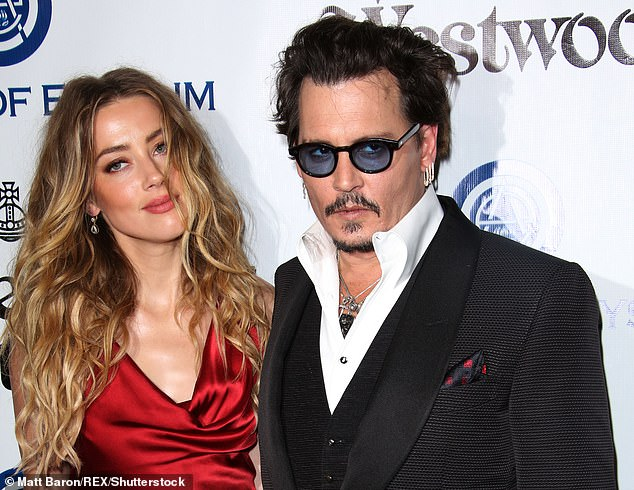 Amber Heard has renewed her allegations of domestic abuse against Johnny Depp in a new court filing in response to his $50million defamation lawsuit. The couple, who divorced in May 2016 after 15 months of marriage, are seen above in January 2016