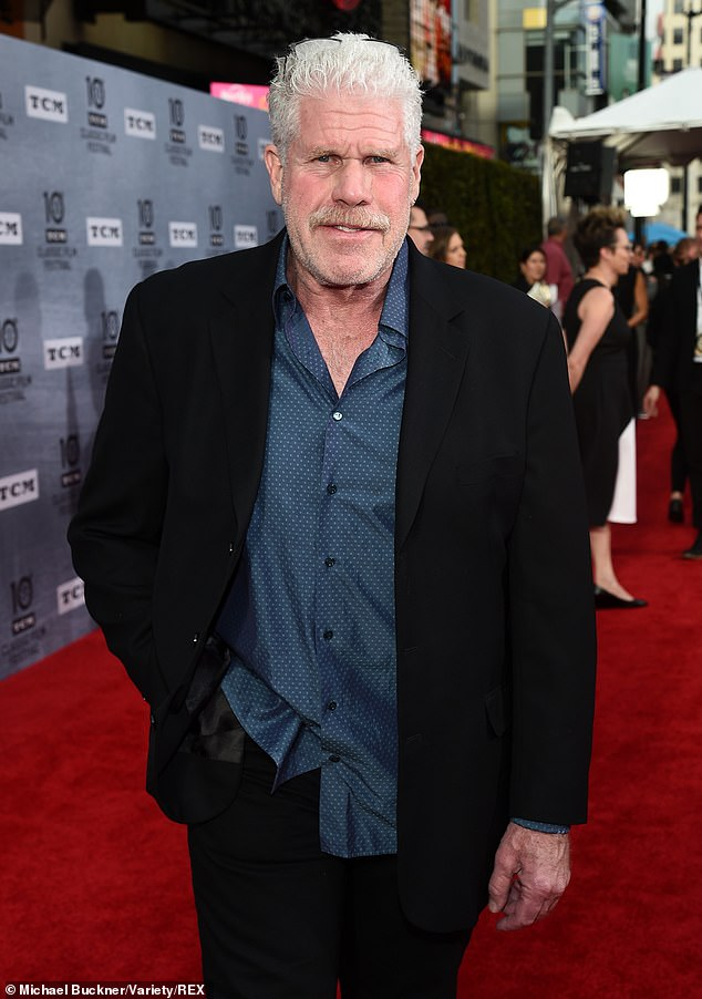 You're a pearl, man: Sons Of Anarchy star Ron Perlman looked dapper for his appearance at the star-studded event