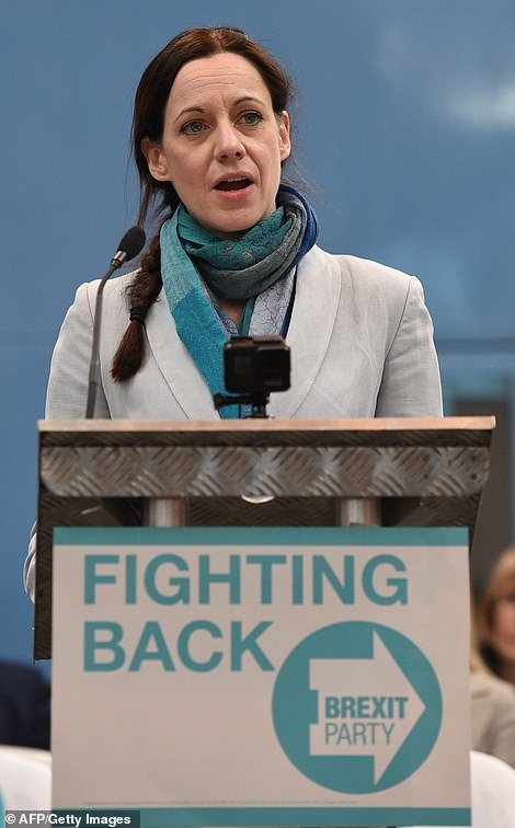 Annunziata Rees-Mogg was unveiled as the Brexit Party's star candidate at the European elections