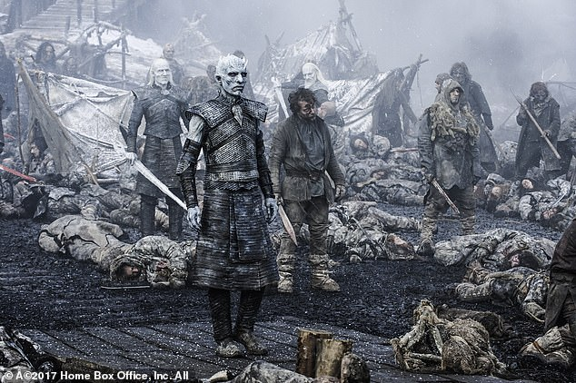 In Game Of Thrones' own version of Dunkirk, Jon Snow and his men evacuate a huge group of Wildings from a coastal village while under attack from the Night King and his army of undead. From their ships, Snow and the good guys watch in horror as the Night King raises his arms and everyone slain in the battle is revived as a zombie